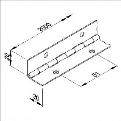 Uitzonderlijk Pianoscharnier 40mm (2 meter) | Scharnieren Opbouw Scharnieren CA09
